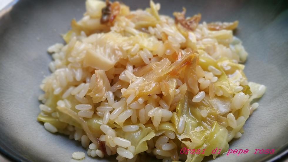 riso bianco alla verza stufata