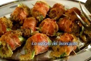 Cannoli di zucchina farcita con carne macinata
