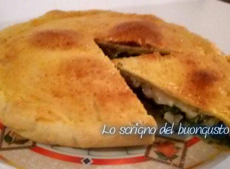 Pizza rustica bieta e pancetta affumicata