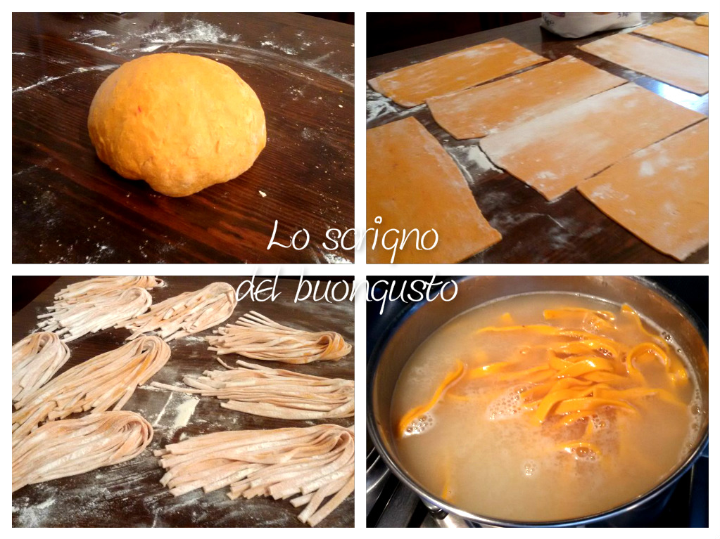 Tagliatelle peperonate al ragù di pollo