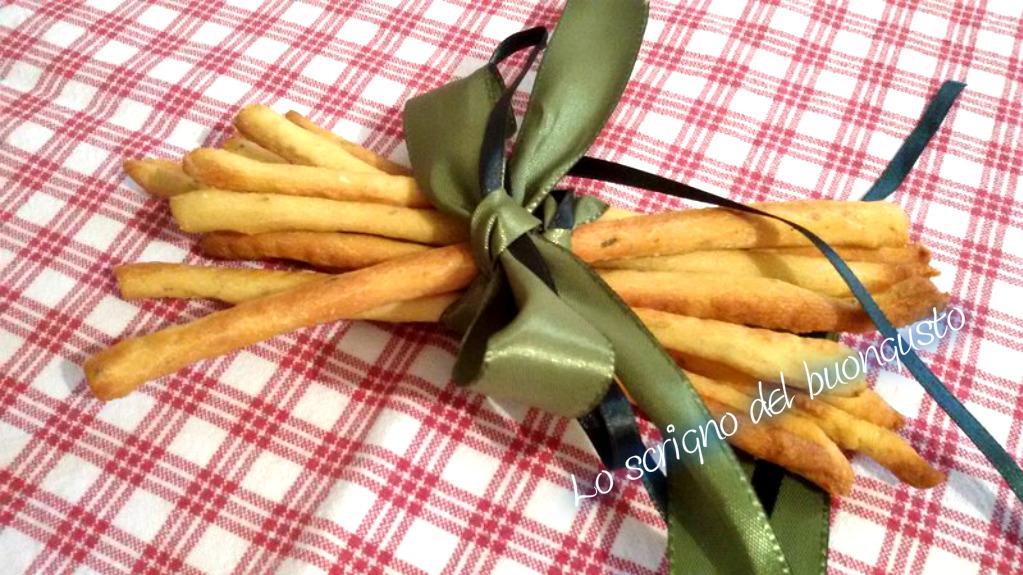 Grissini con farina di ceci aromatizzati