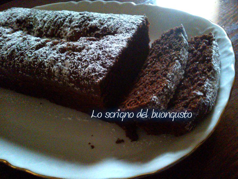 Plum-cake al cioccolato senza uova