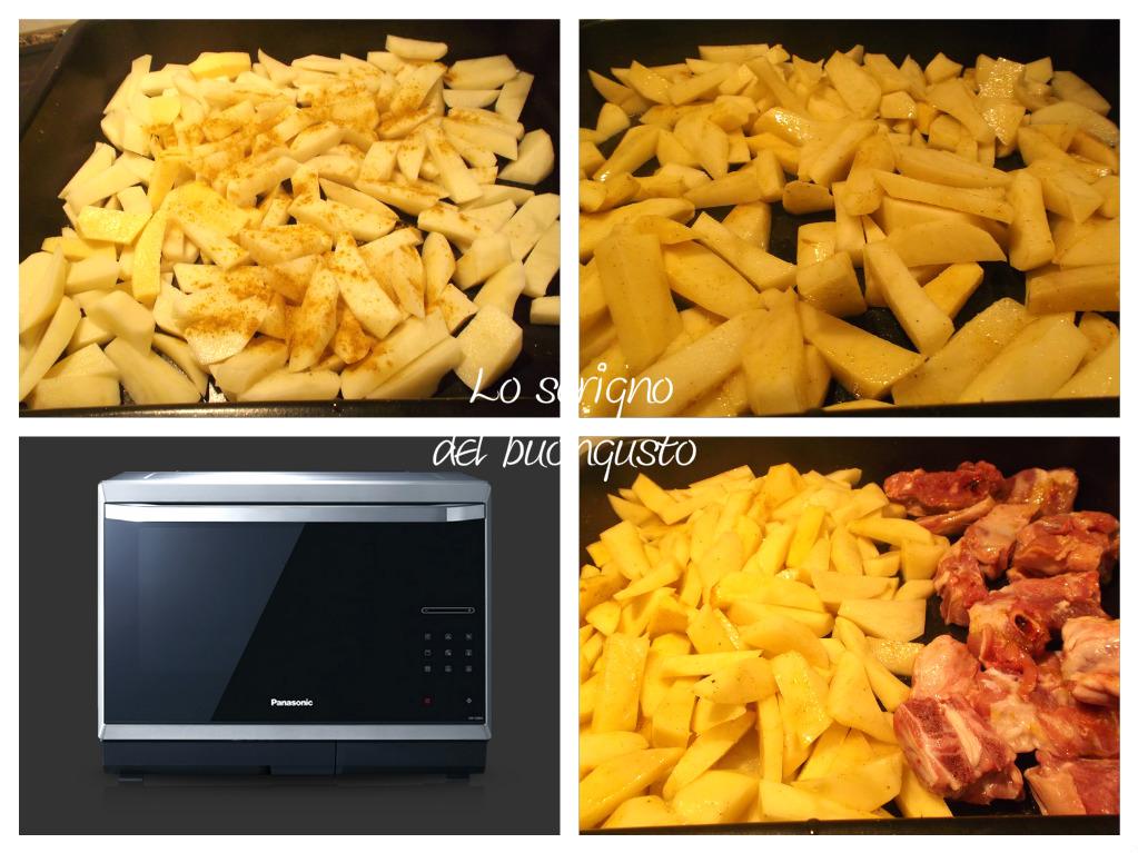 Agnello e patate al forno aromatizzate al curry