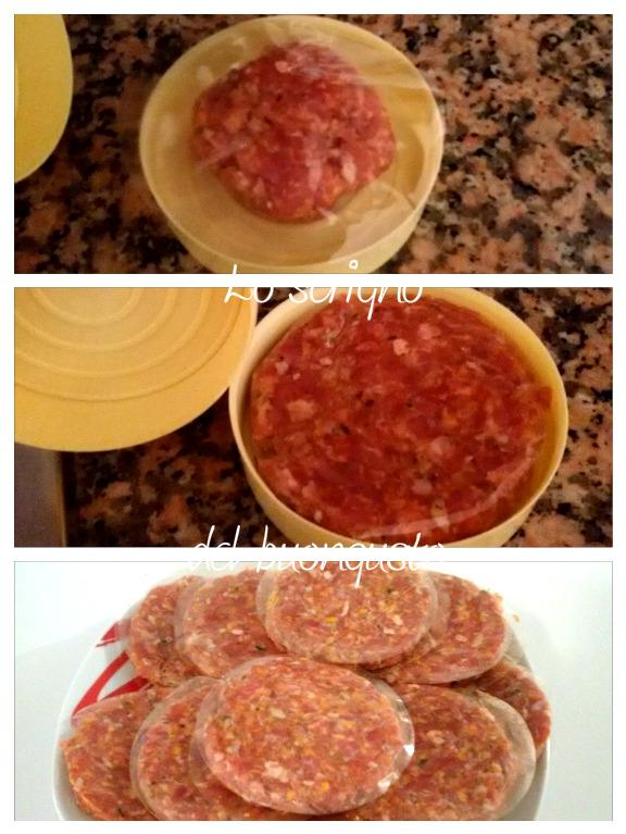 Hamburger con crema di peperoni