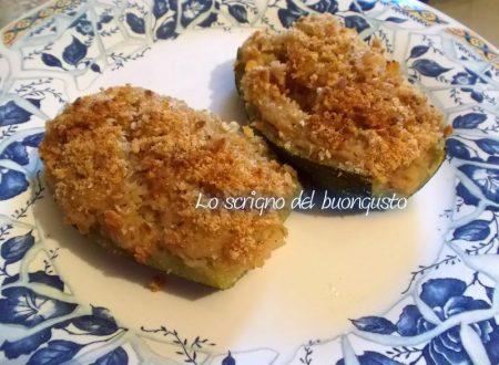 Zucchine farcite con tonno e patate