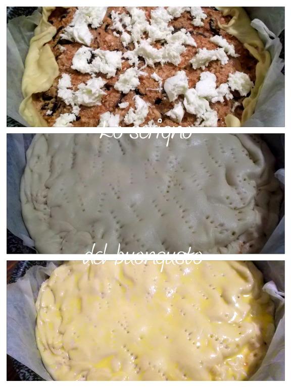Torta di pasta brisèe farcita