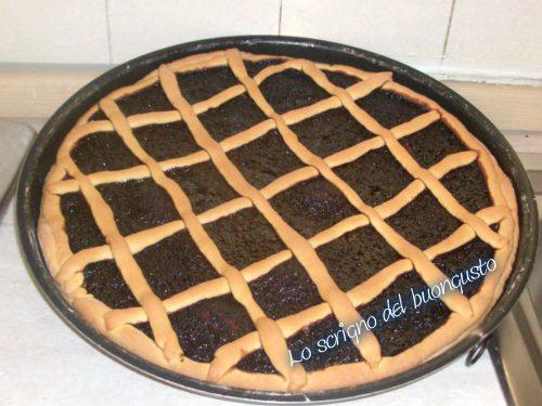 Crostata con marmellata di uva