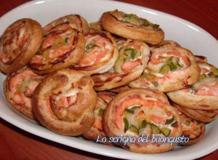 Girelle di salmone e zucchine