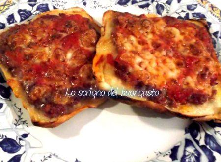 Pizze finte di pancarrè