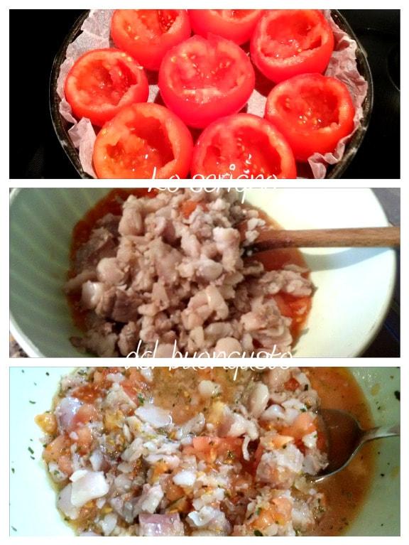 Pomodori farciti merluzzo e riso