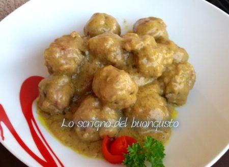 Polpettine con salsa al curry