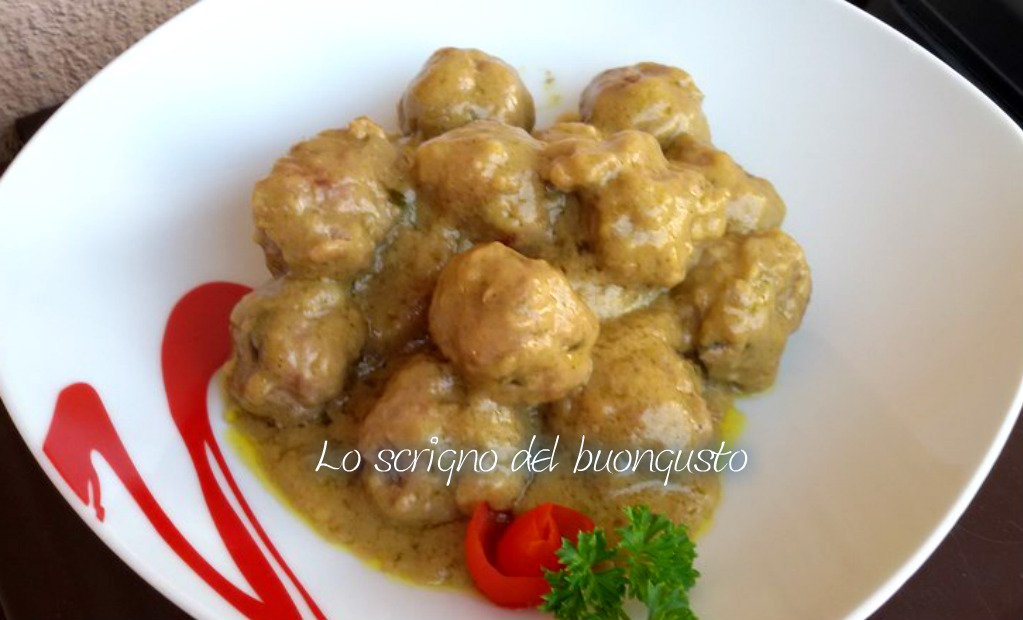 Polpettine con salsa al curry