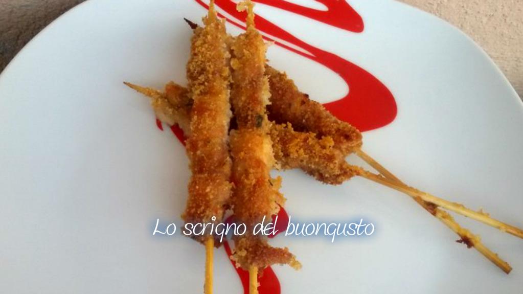 Arrosticini di pollo alla siciliana