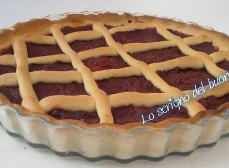 Crostata con marmellata di kaki