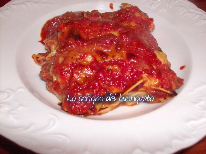 Lasagna al ragù d'anatra