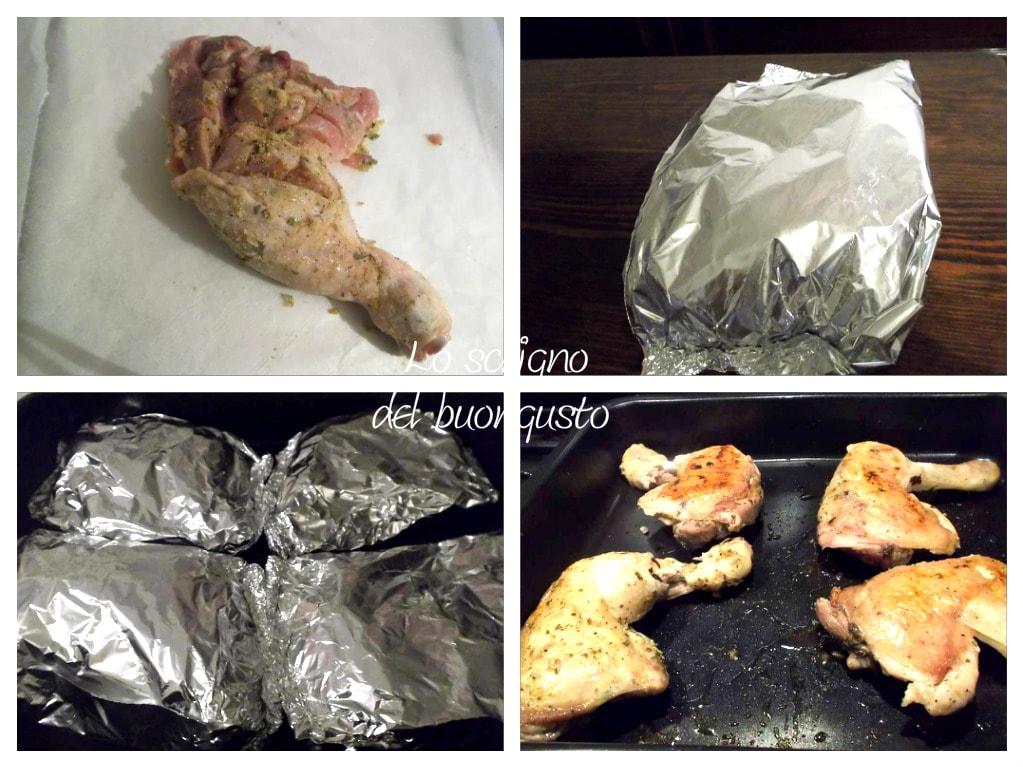 Cosce di pollo al cartoccio