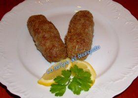 Salsicce di agnello panate