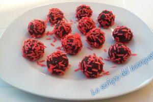 Palline di cioccolato per San Valentino