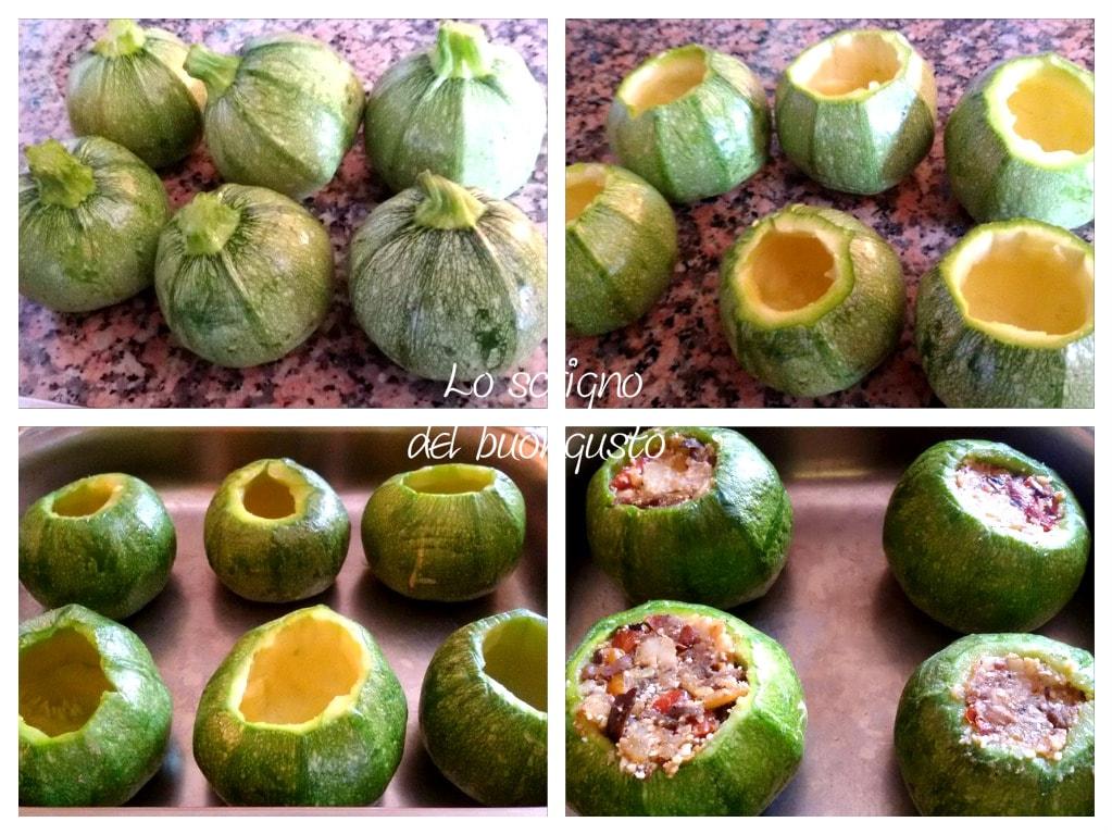Zucchine vegetariane farcite