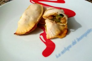 Ravioli di pizza zucchine e gamberetti
