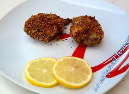 Fusi di pollo con panatura croccante