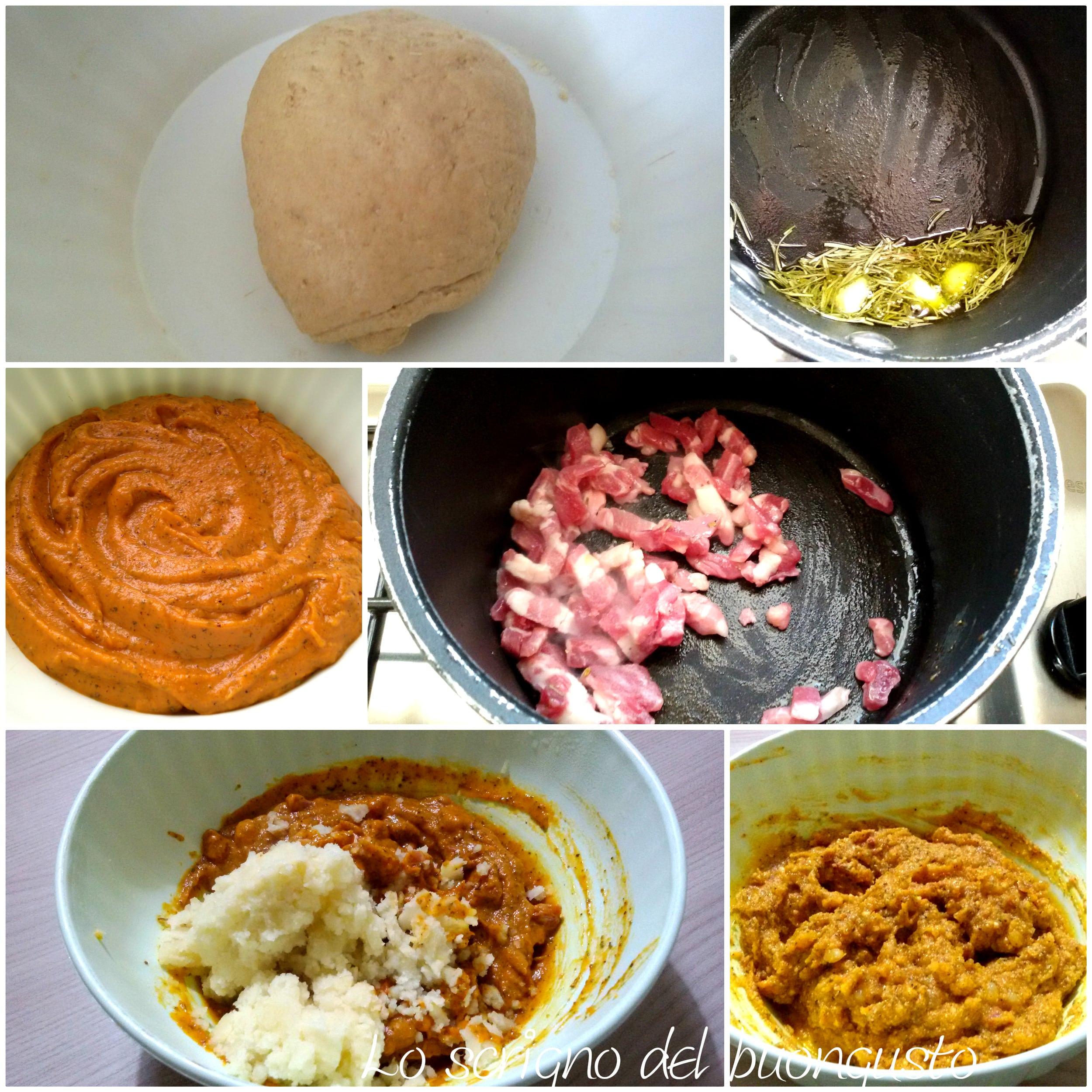 Tortelli romagnoli con farina di farro cotti in padella