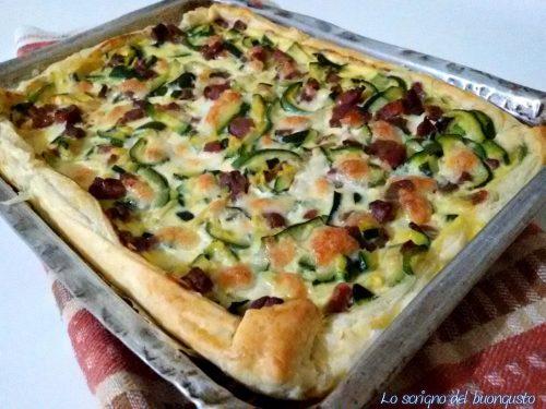 Torta salata zucchine e prosciutto crudo