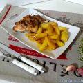 Cosce di coniglio al forno con patate