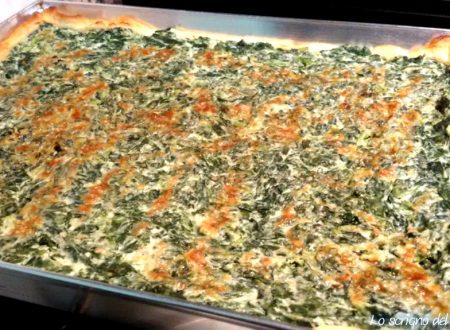 Pizza salata ricotta e spinaci