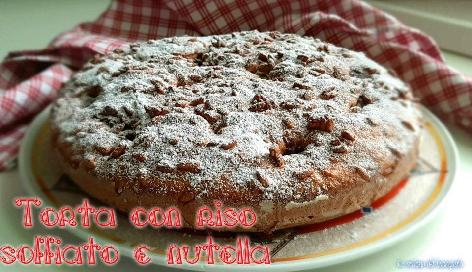 Torta con riso soffiato e nutella