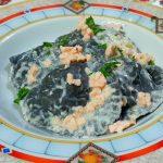 Ravioli al nero di seppia