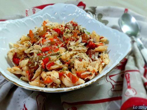Baccalà condito insalata