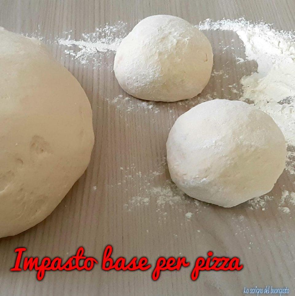 Ricetta base per pizza