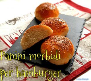 Panini soffici da hamburger