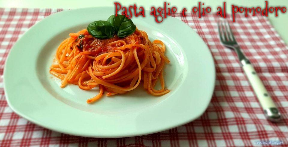 Pasta aglio e olio al pomodoro