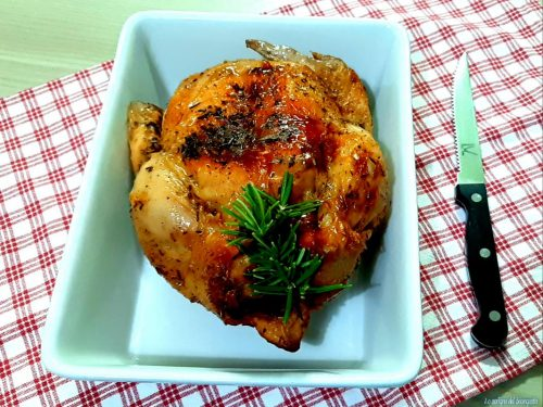 Pollo arrosto alla friggitrice ad aria