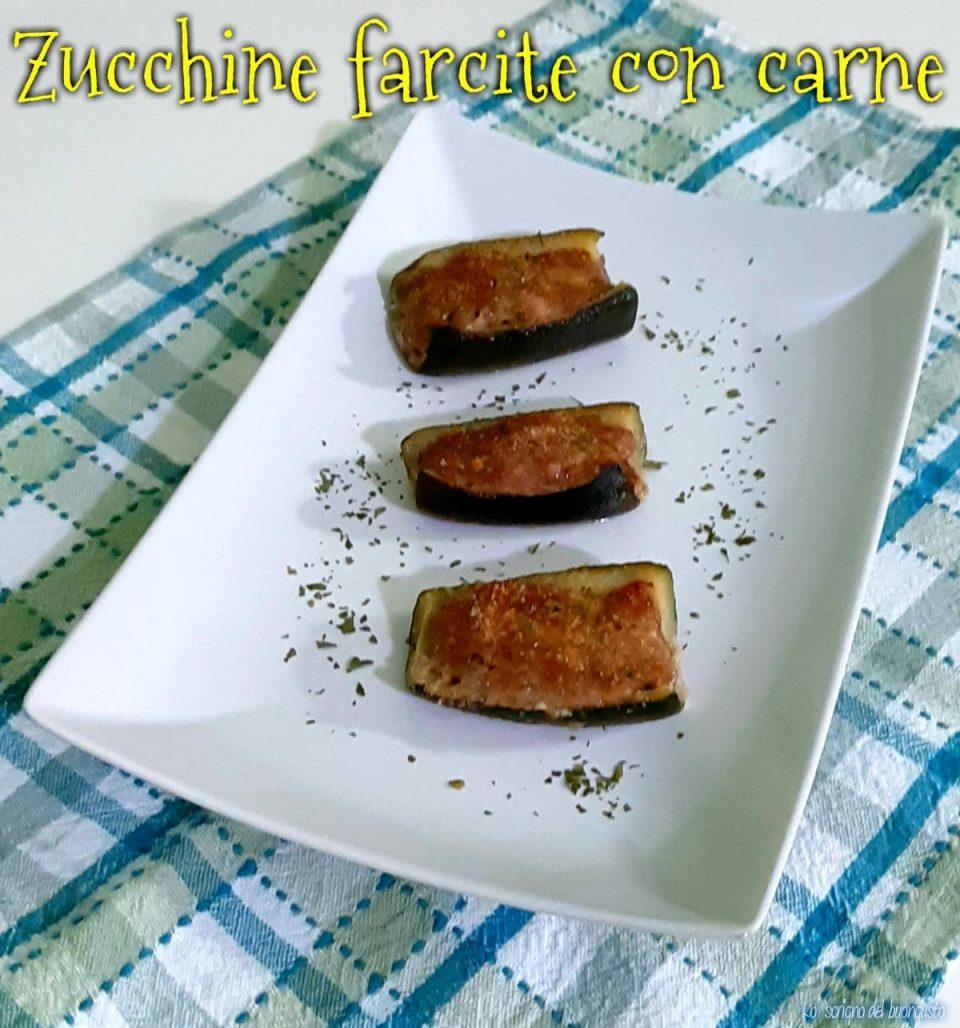 Zucchine farcite con carne