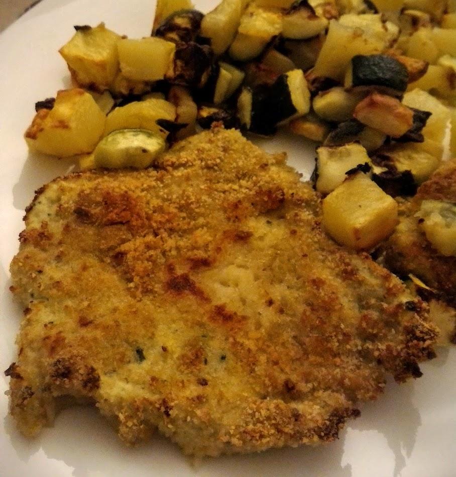 Cotolette di Pollo e Zucchine al forno