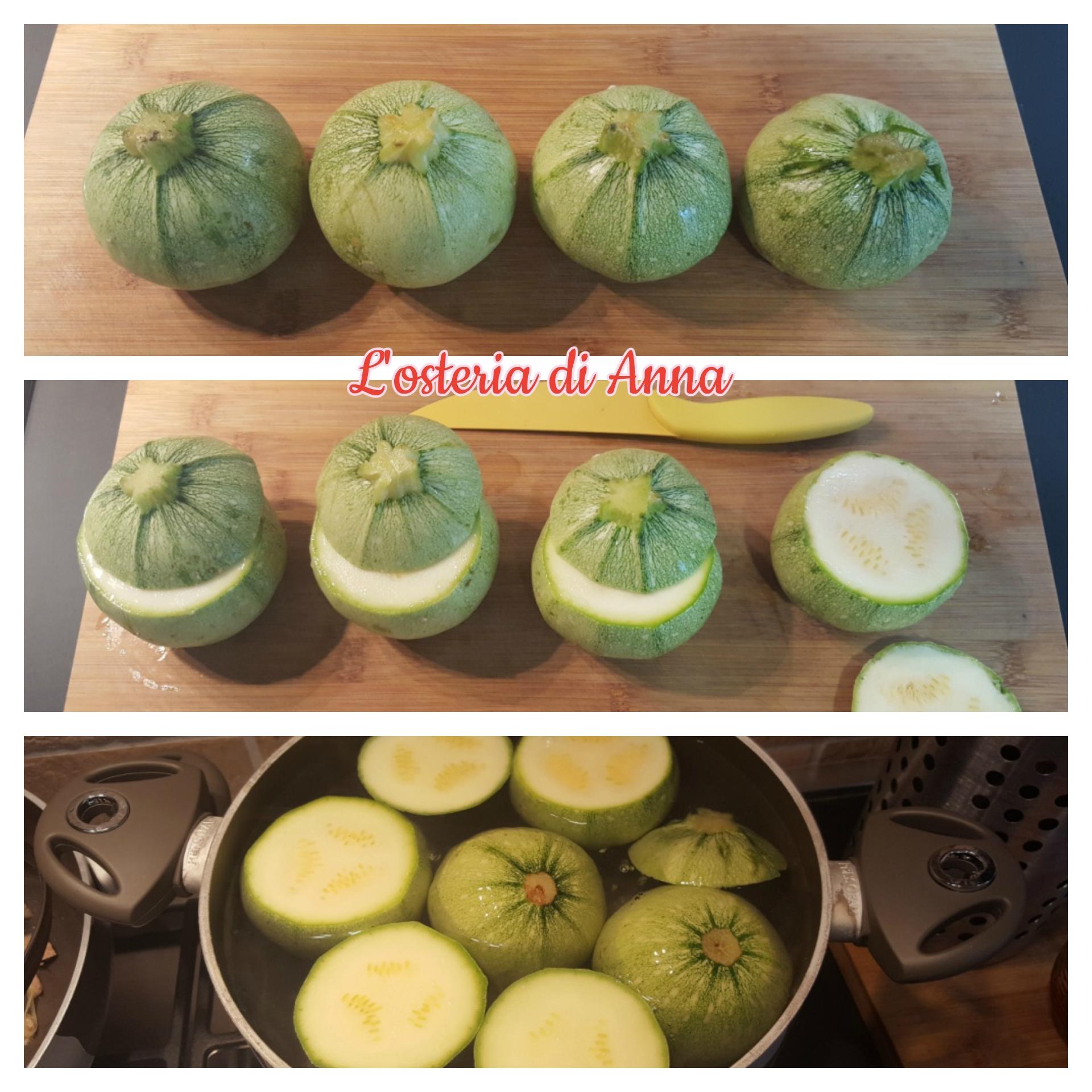 Preparazione delle zucchine