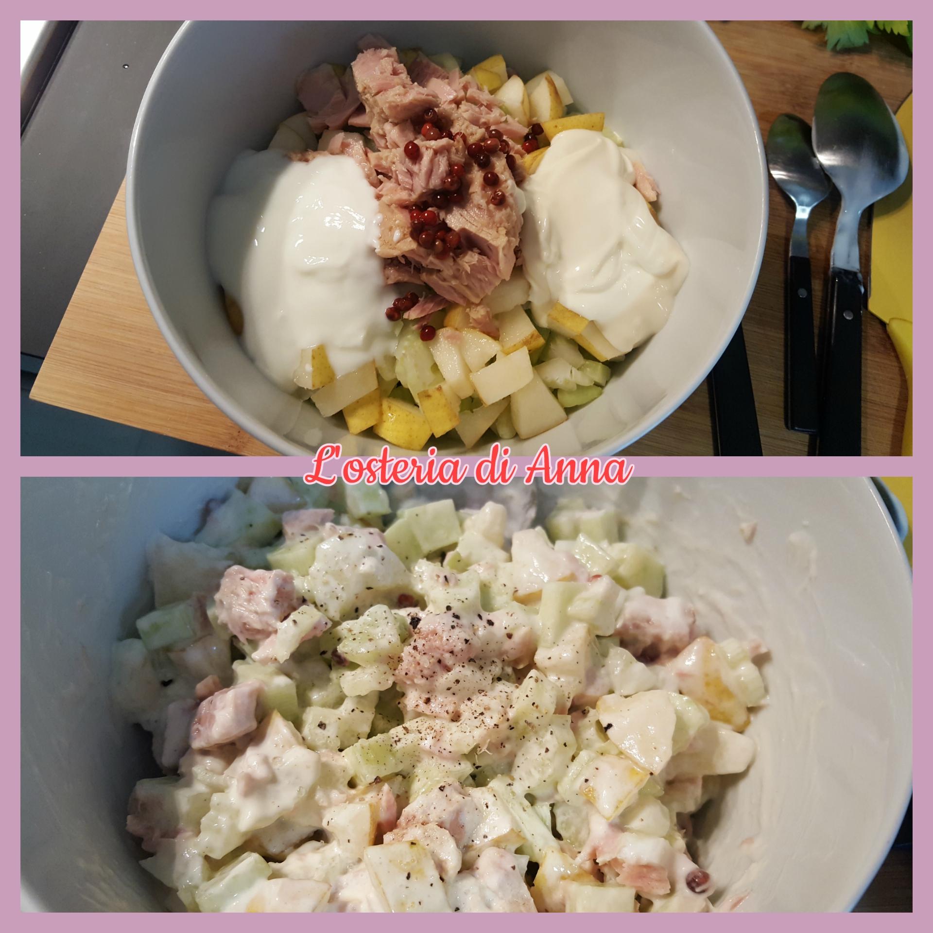 L'aggiunta di maionese e yogurt bianco all'insalata croccante