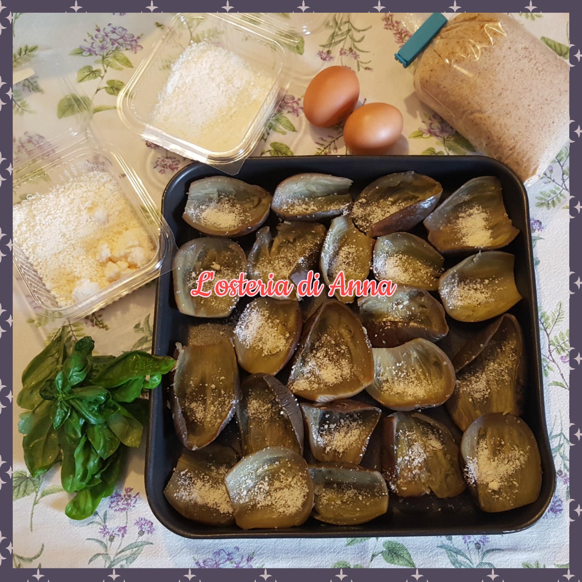 Ingredienti per la farcitura delle melanzane