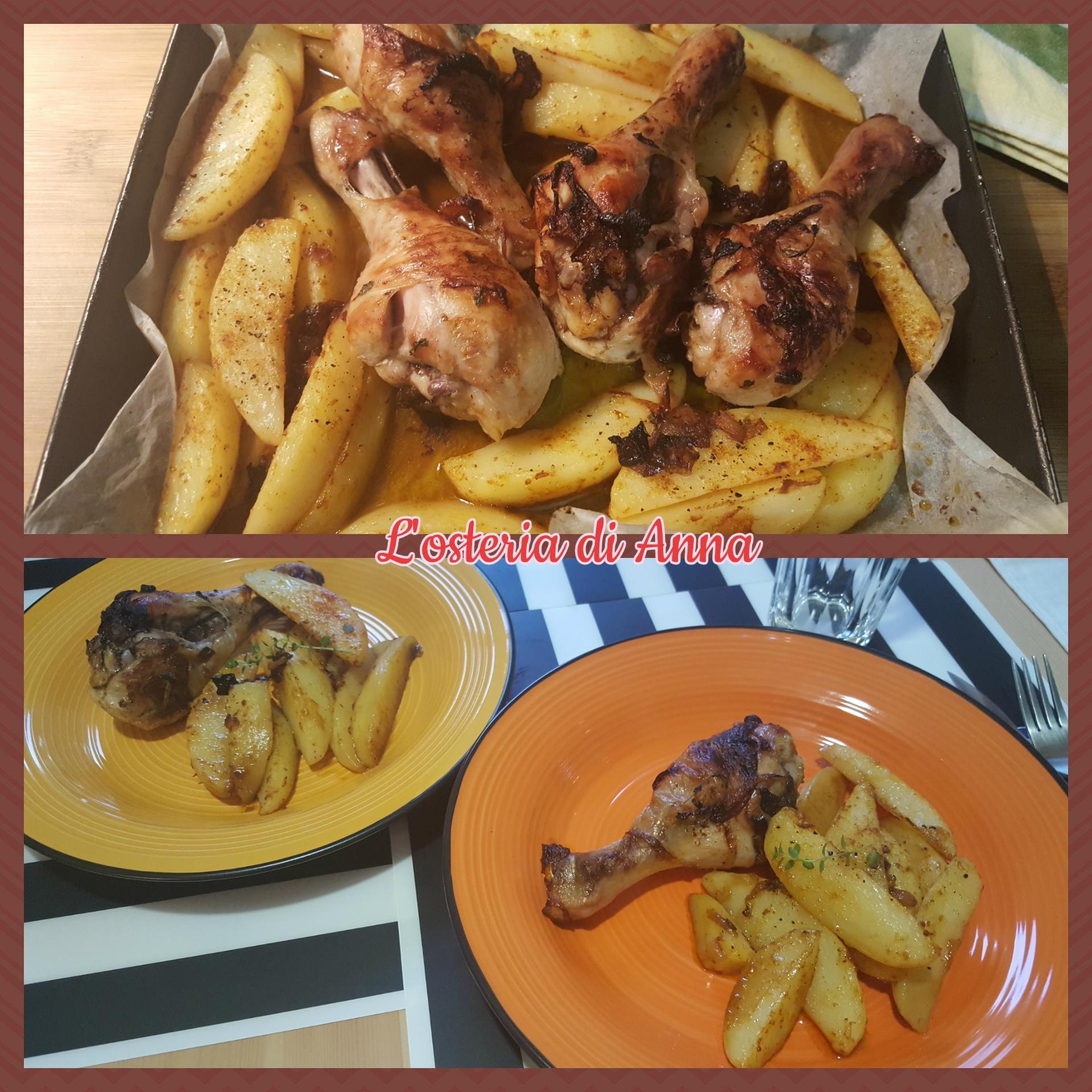 Impiattamento del pollo dopo la cottura in forno
