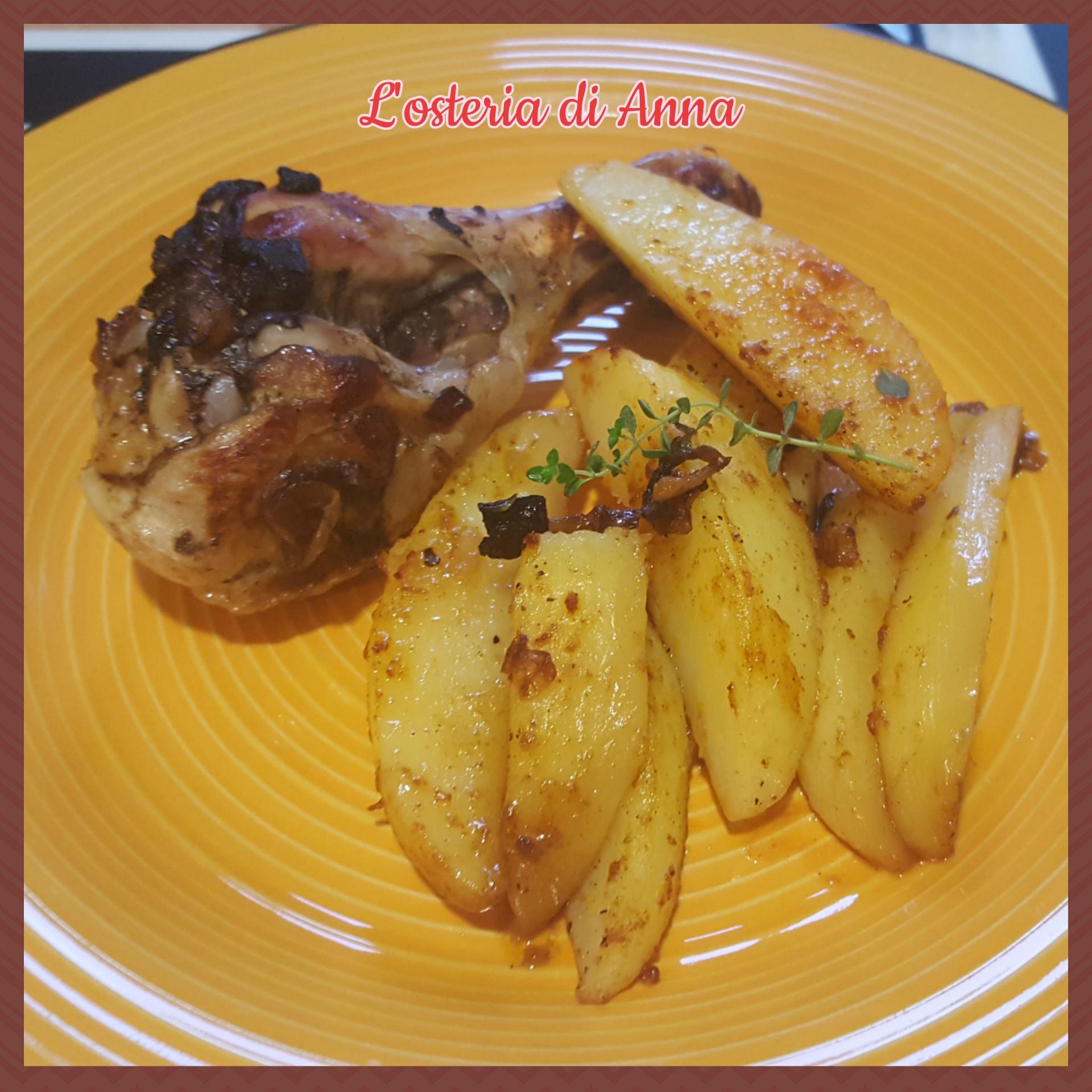 Pollo alla birra con patate alla paprika