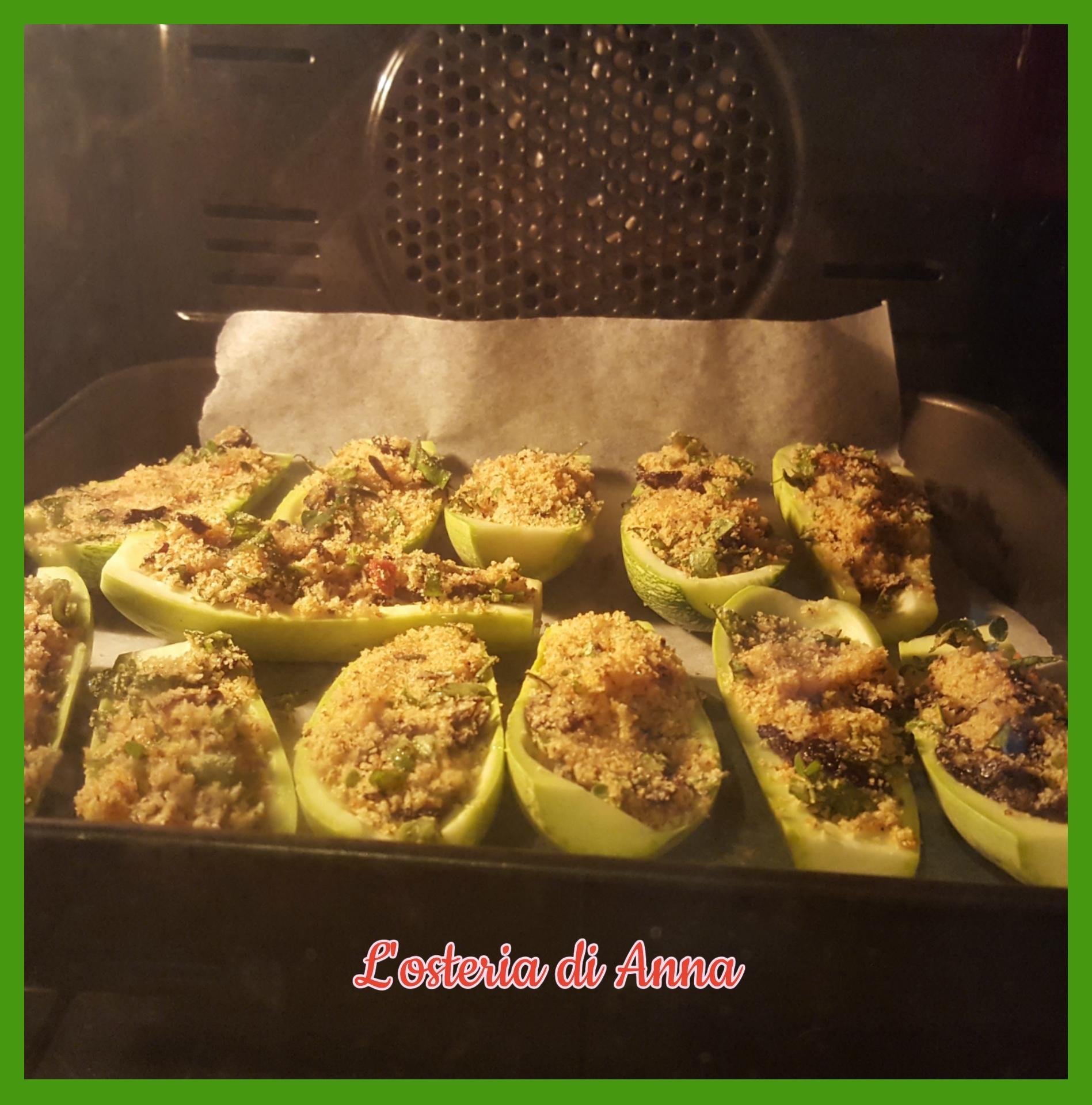 Infornare le zucchine gratinate alla calabrese