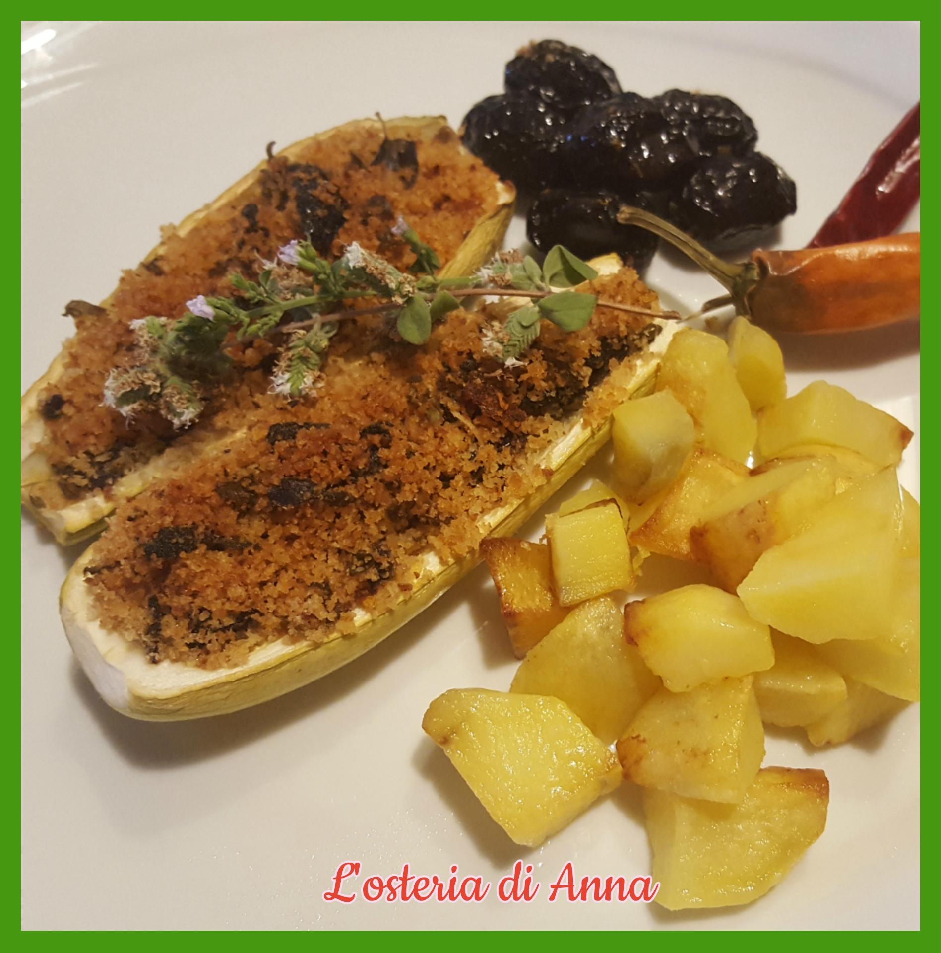 Zucchine gratinate alla calabrese con contorno di patate
