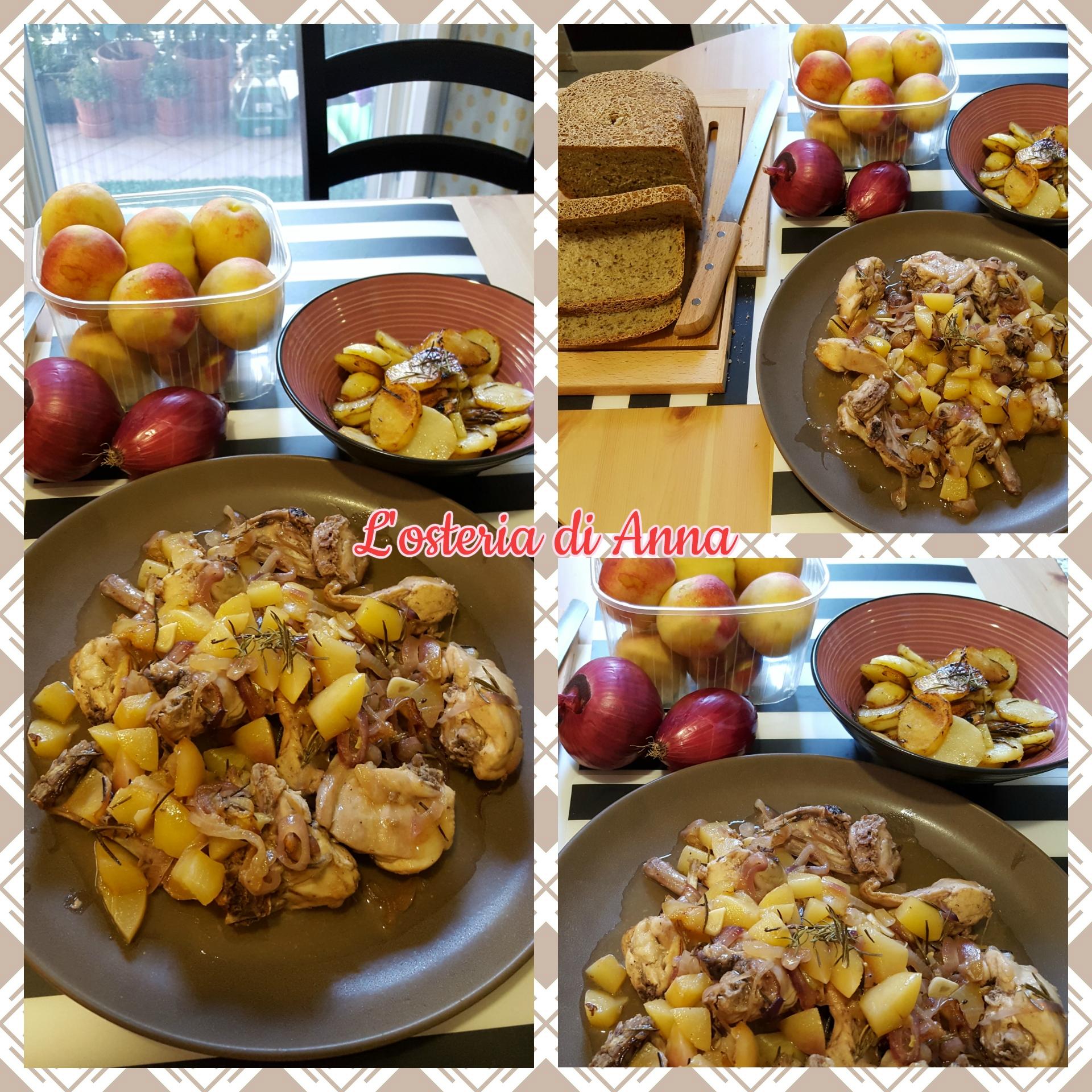 Coniglio alle merendelle e cipolle di Tropea