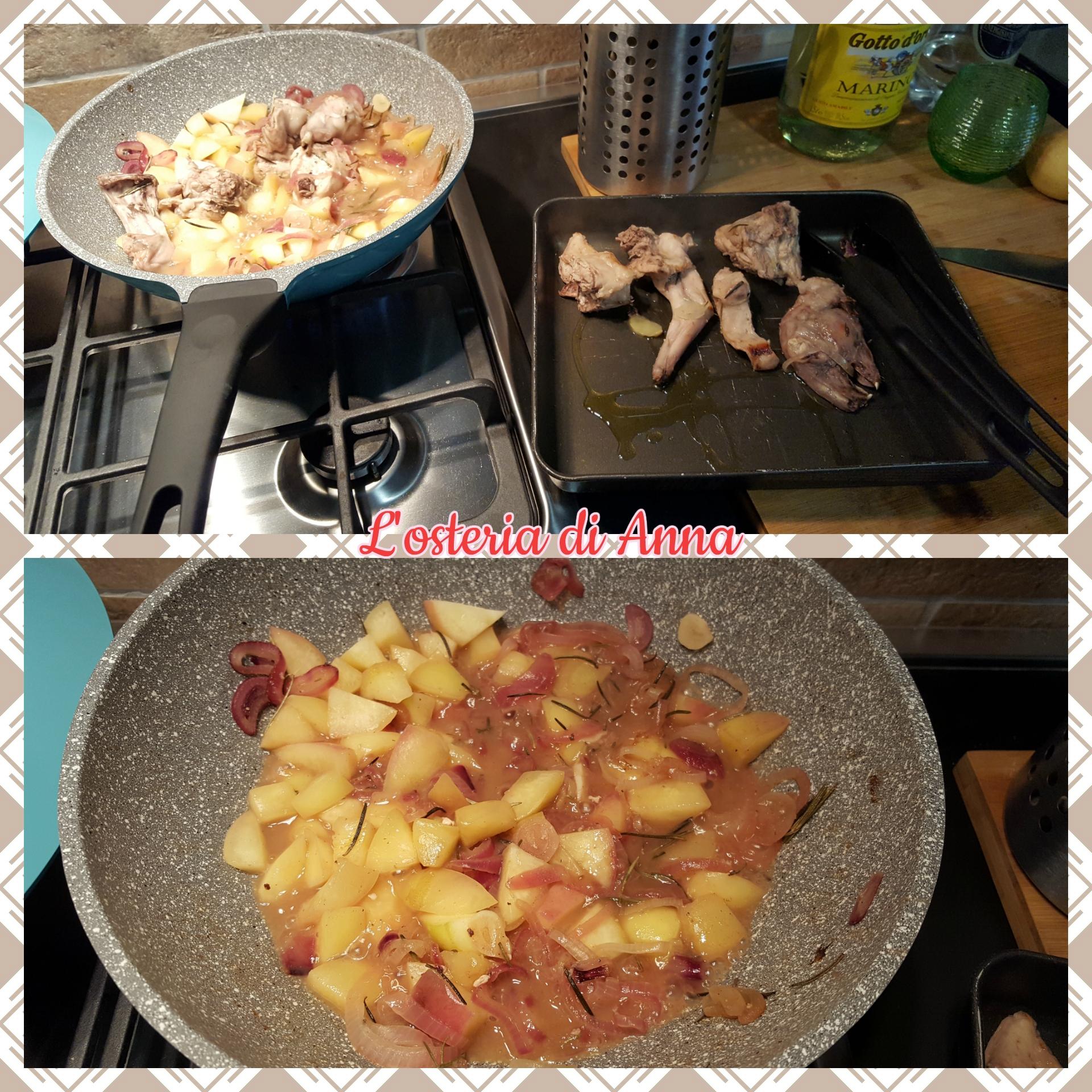 Cottura delle cipolle e delle merendelle
