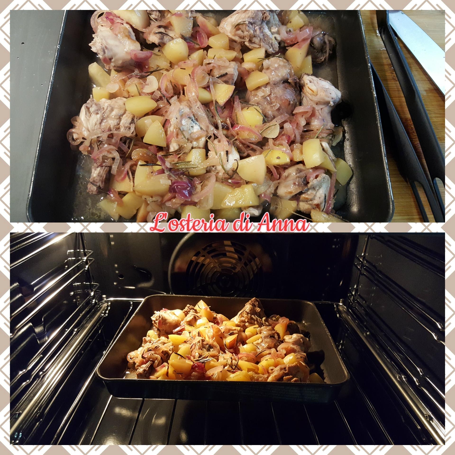 Cottura del coniglio alle merendelle in forno