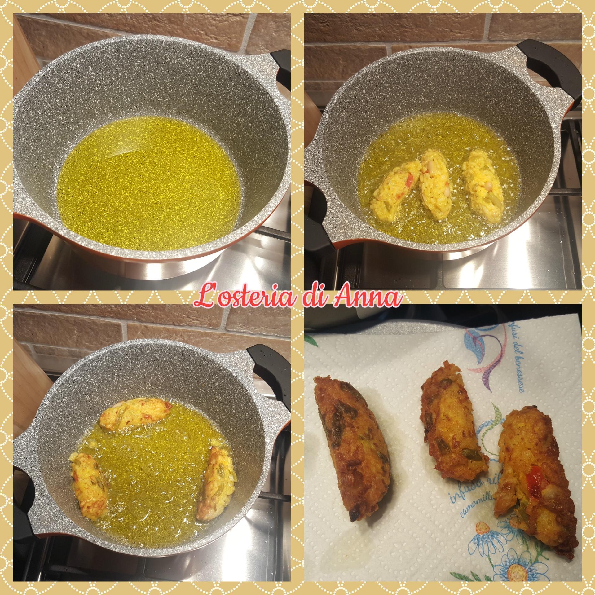Frittura delle crocchette di insalata di riso