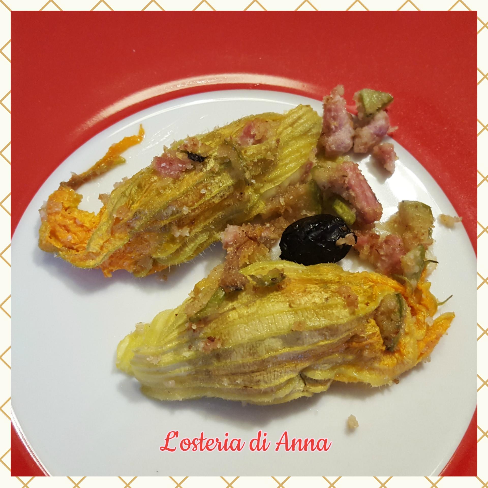 Fiori di zucca ripieni con tonno e mozzarella